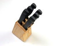 vinkelisolerade knivar Fotografering för Bildbyråer