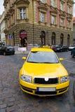 vinkeln taxar sikt yellow wide Arkivfoto