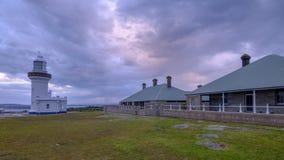 Vinkelr?tt ljus f?r punkt i det Beecroft vapenomr?det i Jervis Bay, NSW, Australien fotografering för bildbyråer