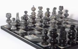 vinkelschacket pieces lagwhite Royaltyfri Bild