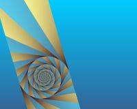 vinkelswirl vektor illustrationer