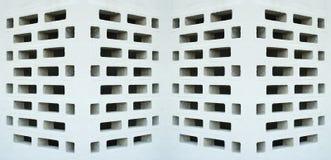 vinkeltexturerade väggar arkivfoto