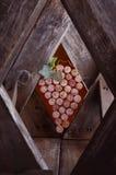 Vinkorkar i formen av druvor Royaltyfri Fotografi