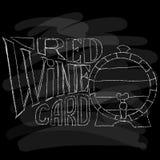 Vinkort Krita på en blackboard också vektor för coreldrawillustration Arkivfoton