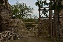Vinné城堡废墟  库存照片