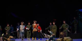 """Vinn en färdig seger-Peking opera som """"Taking Tiger Montain By Strategyâ € Royaltyfri Bild"""