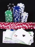 Vinnande begrepp för kasino Arkivbild