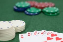 Vinnande dobbleristrimma på en kasino Fotografering för Bildbyråer