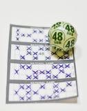 Vinnande lotterikort Royaltyfri Bild