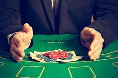 Vinnande pokerlek Arkivfoton