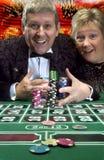 Vinnande stort i kasinot Arkivbilder