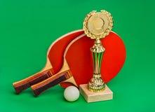 Vinnande tennisturneringar royaltyfri foto