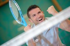 Vinnare av tennisleken arkivbilder