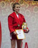 Vinnare Elena Bondareva Royaltyfri Bild
