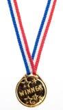 vinnare för guldmetallband arkivbild