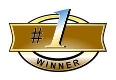 vinnare för nummer ett vektor illustrationer