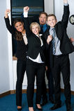 Vinnare i affären som firar framgång Royaltyfria Bilder