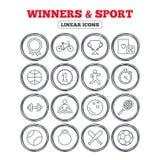 Vinnare och sportsymbol Vinnarekopp, medaljutmärkelse Royaltyfria Foton