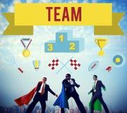 Vinnare som utbildar Team Sport Event Graphic Concept vektor illustrationer