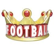 Vinnare Victory Top Competitor för lag för spelare för fotbollkrona bästa stock illustrationer