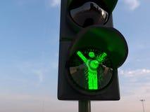 Vinnarebegrepp med trafikljus Arkivfoton