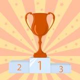 Vinnarekopp, mästarepris Stock Illustrationer