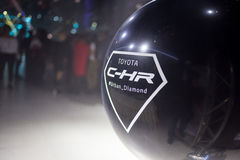 Vinnitsa,乌克兰- 2016年12月16日 丰田C-HR概念汽车  免版税库存图片