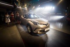 Vinnitsa,乌克兰- 2016年12月16日 丰田C-HR概念汽车  免版税图库摄影
