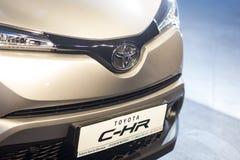 Vinnitsa,乌克兰- 2016年12月16日 丰田C-HR概念汽车 Fr 免版税库存图片