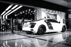Vinnitsa,乌克兰- 2012年11月11日 奥迪R8概念汽车 奥迪s 免版税图库摄影