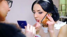 VINNITSA,乌克兰- 12月12 :年的竞争新娘 影视素材