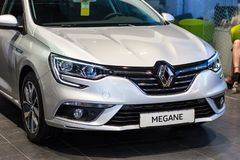 Vinnitsa, Ουκρανία - 20 Απριλίου 2018 Αυτοκίνητο έννοιας της Renault MEGANE στοκ εικόνες
