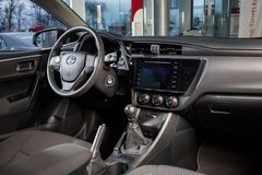 Vinnitsa, Ουκρανία - 10 Ιανουαρίου 2018 Αυτοκίνητο έννοιας της Toyota Corolla στοκ εικόνα με δικαίωμα ελεύθερης χρήσης