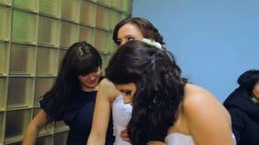 VINNITSA, ΟΥΚΡΑΝΙΑ - 12 ΔΕΚΕΜΒΡΊΟΥ: Νύφη ανταγωνισμού του έτους απόθεμα βίντεο