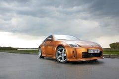 Vinnitsa, de Oekraïne - April 24, 2012 Het conceptenauto van Nissan 350Z Sport Royalty-vrije Stock Foto