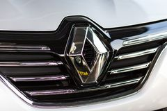 Vinnitsa, de Oekraïne - April 20, 2018 Het conceptenauto van Renault MEGANE royalty-vrije stock foto