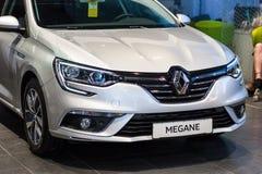 Vinnitsa, de Oekraïne - April 20, 2018 Het conceptenauto van Renault MEGANE stock foto
