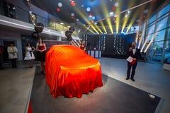 Vinnitsa, de Oekraïne - December 16, 2016 Het Conceptenauto van Toyota c-u Aan Royalty-vrije Stock Foto's