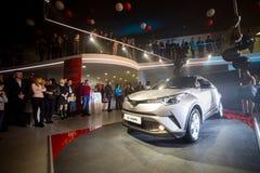 Vinnitsa, de Oekraïne - December 16, 2016 Het Conceptenauto van Toyota c-u Aan Stock Afbeeldingen
