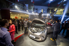 Vinnitsa, de Oekraïne - December 16, 2016 Het Conceptenauto van Toyota c-u Aan Royalty-vrije Stock Foto