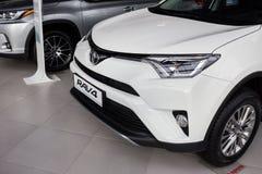 Vinnitsa, de Oekraïne - Januari 10, 2018 Het conceptenauto van Toyota RAV 4 - Royalty-vrije Stock Foto's