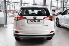 Vinnitsa, de Oekraïne - Januari 10, 2018 Het conceptenauto van Toyota RAV 4 - Royalty-vrije Stock Foto