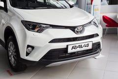 Vinnitsa, de Oekraïne - Januari 10, 2018 Het conceptenauto van Toyota RAV 4 - Royalty-vrije Stock Afbeeldingen