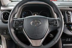 Vinnitsa, de Oekraïne - Januari 10, 2018 Het conceptenauto van Toyota RAV 4 - Royalty-vrije Stock Fotografie