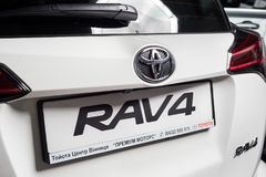Vinnitsa, de Oekraïne - Januari 10, 2018 Het conceptenauto van Toyota RAV 4 - Stock Foto