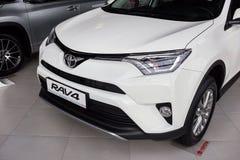 Vinnitsa, de Oekraïne - Januari 10, 2018 Het conceptenauto van Toyota RAV 4 - Stock Foto's