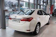 Vinnitsa, de Oekraïne - Januari 10, 2018 Toyota Corolla-conceptenauto royalty-vrije stock foto