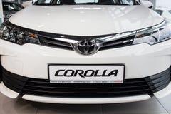 Vinnitsa, de Oekraïne - Januari 10, 2018 Toyota Corolla-conceptenauto royalty-vrije stock fotografie
