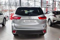 Vinnitsa, de Oekraïne - Januari 10, 2018 Toyota-Hooglanderconcept Royalty-vrije Stock Foto