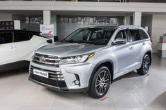 Vinnitsa, de Oekraïne - Januari 10, 2018 Toyota-Hooglanderconcept Stock Foto